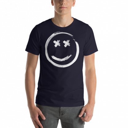 Smile-Yellow-White_mockup_Front_Mens_Navy