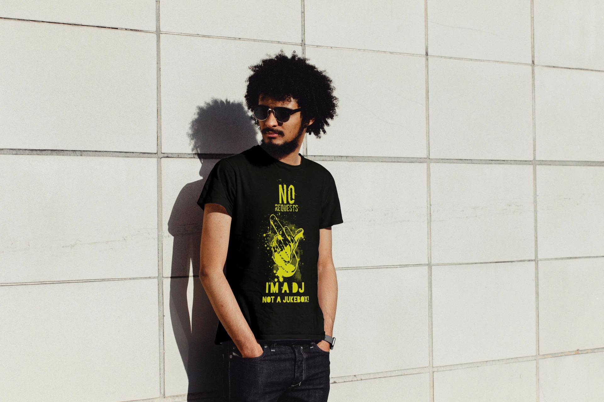 dj-not-jukebox-yellow-t-shirt