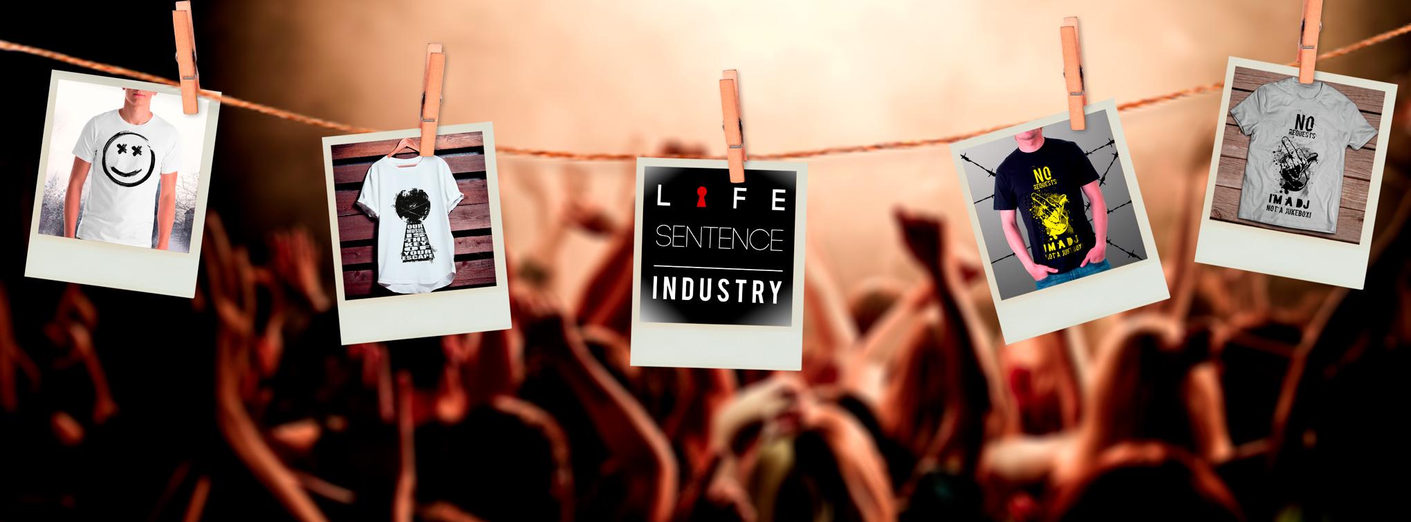 life sentence industry polaroid collage
