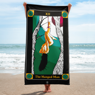 The Hanged Man Beach Towel Tarot Cards
