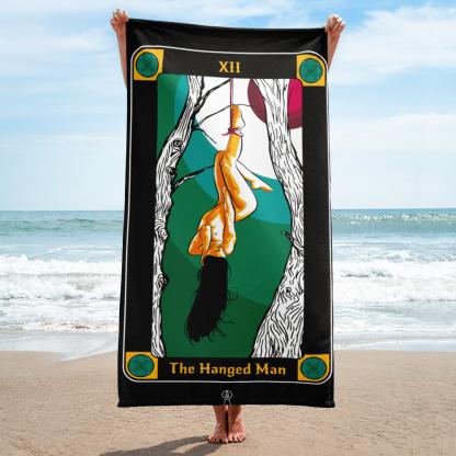 The Hanged Man Beach Towel Tarot Cards