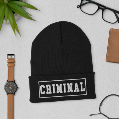 crimina-beanie-black