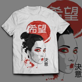 maglietta-geisha-giapponese-bianca